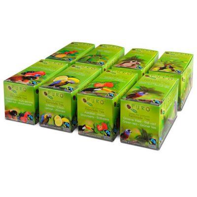Puro te Sortimentlåda Fairtrade 8 förp x 25 tepåsar
